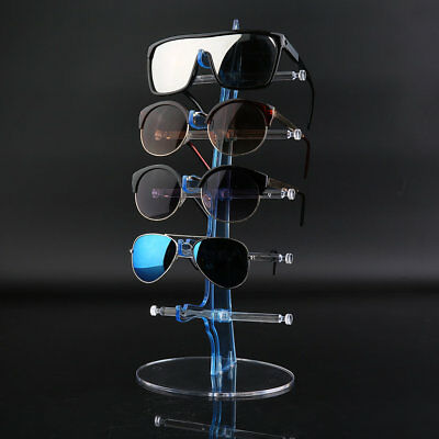 Acrylic 10-Pair Sunglasses Glasses Eyeglasses Display Rack Holder Frame Stand BH