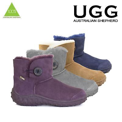Ugg Boots Sheepskin Polka Classic Button Short Australian Ladies Size 35-39 EU