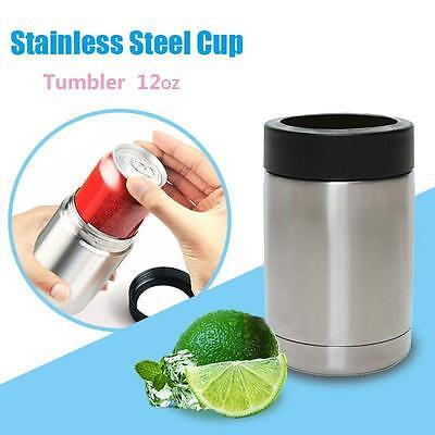 12 oz Tumbler Stainless Steel Insulated Vacuum Cans Bottle Cold Cooler Cup &34