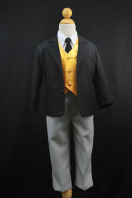 New Baby Boy Toddler Halloween Thomas & Friends Formal Tuxedo Suit Yellow Vest