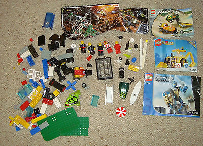 lego space police knights mixed lot vintage spare parts bulk