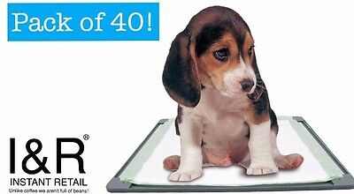 40 x Quality Puppy Training Pads Sheets Cat Pet Train Doggy Mess