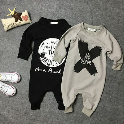 Cute Toddler Baby Clothes Girls Boys Romper Jumpsuit Playsuit Outfits US Stock