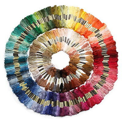 36/50 Mixed Colors Cross Stitch Cotton Embroidery Thread Sewing Skeins Floss Kit