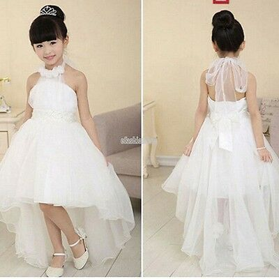Flower Kids Girl Toddler Baby Princess Party Pageant Wedding Tulle Tutu Dress Y