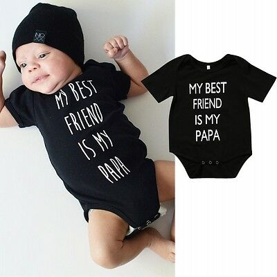 Newborn Baby Boy Girl Clothes Short Sleeve Romper Bodysuit Jumpsuit Outfits 0-2T