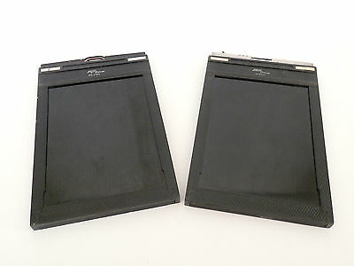 Two Fidelity Delux 5x7 Film Dark Slides : FREE UK POST: 048P