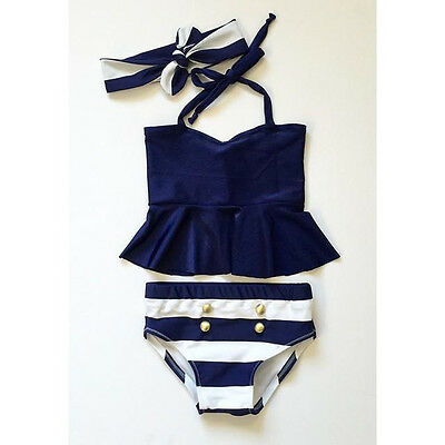 Summer Vacation Kids Baby Girls Bikini Suit Swimsuit Swimwear Bathing US Stock