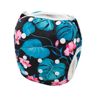 Alva Baby Girl Swim Diaper Washable Reusable Breathable Pool Cover Fit 10-40lbs