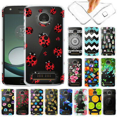 For Motorola Moto Z Play Droid XT1635 Slim Transparent Clear TPU Soft Case Cover
