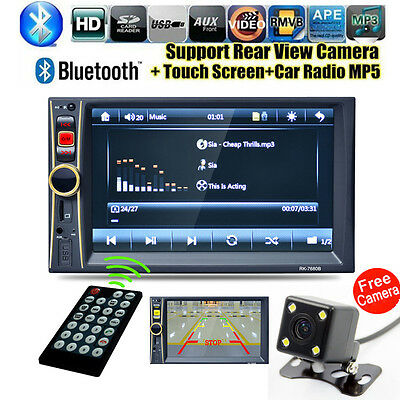 "GPS 7"" Android Double 2DIN Car Stereo MP3 MP5 Player Bluetooth Radio +HD Camera"