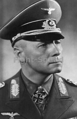 WW2 Picture Photo Portrait of Erwin Rommel 1942 with Knight's Cross 1213