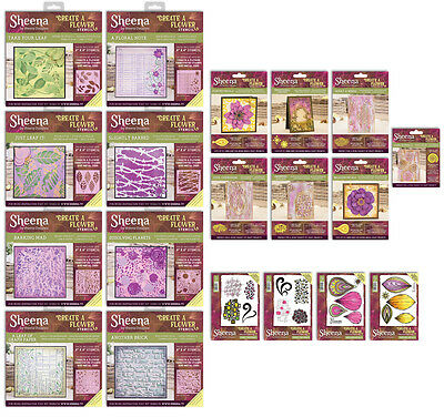 Sheena Douglass CREATE A FLOWER Dies Stencils & Rubber Stamps Crafters Companion