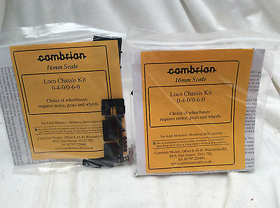 NARROW GAUGE (16mm scale) -2 PACKS  OF( CAMBRIAN) LOCO CHASSIS KITS/ 0-4-0/0-6-0
