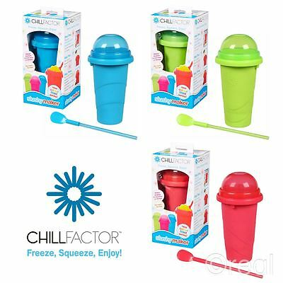 New Chill Factor Blue Red Or Green Slushy Makers Frozen Ice Drink Official