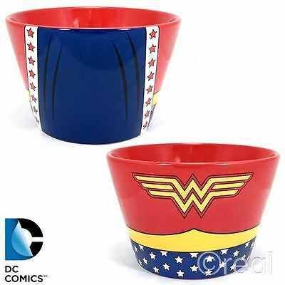 New DC Comics Wonder Woman Costume Bowl Logo Justice League Cereal Official