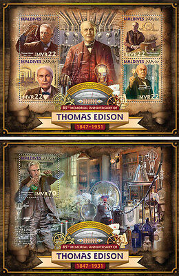 Maldives Thomas Edison Science Honored American Inventor MNH stamp set