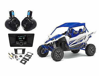 Yamaha YXZ1000R Rockford Fosgate Receiver+Mounting Kit+Harness+2) Tower Speakers