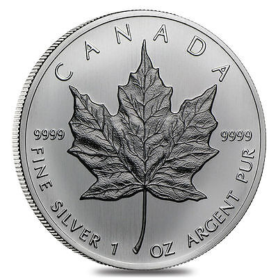 1988 $5 Canadian 1 oz Silver Maple Leaf BU (in capsule)