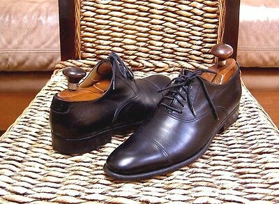 Gucci Italy Mens Black Leather Cap-toe Oxford Lace-up Shoes Size 7 D  /6 EU