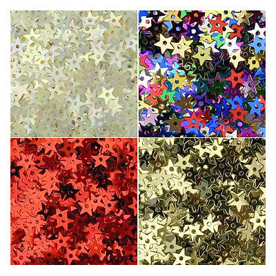 Tiny Star Sequins, 5mm, pack of approx 1g