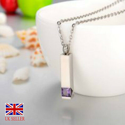 Cremation Urn Ashes Holder Amethyst Colour Pendant Jewelry Pet Or Person