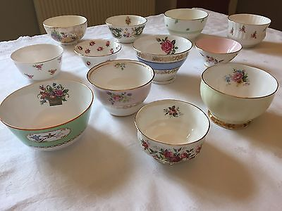 Prettiest VINTAGE English Bone China SUGAR BOWL for Tea Set FLORAL PINK ROSE