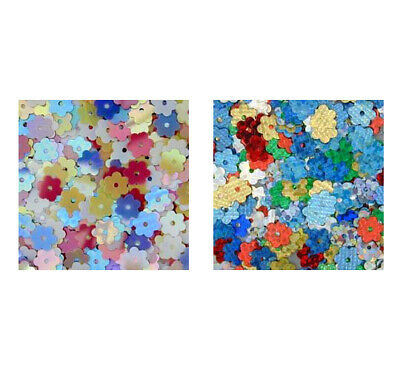 Pinflair Tiny Flower Sequins, 6mm, pack of approx 5g