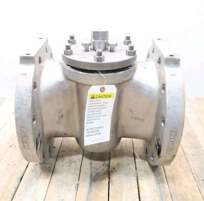 Xomox Tufline 0367FT 8 In 300 Flanged Stainless Plug Valve