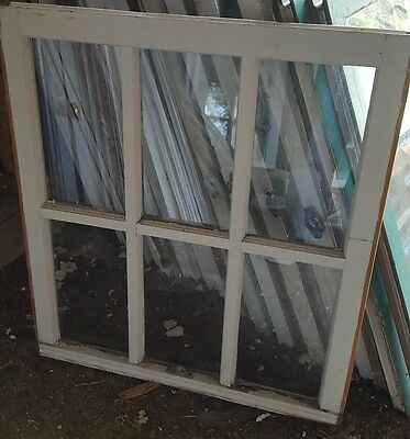 Vintage Sash Antique Wood Window Picture Frame Pinterest Rustic 28X31 6 Pane