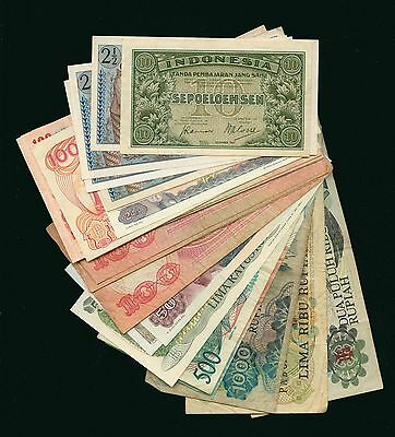 Lot of 119 Indonesia Assorted Currency Notes #102971 R