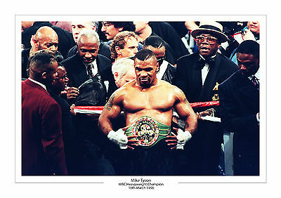 Mike Tyson Wbc Heavyweight Champion A4 Print Photo Boxing 16 March 1996