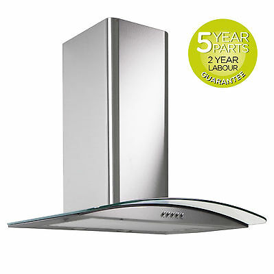 MyAppliances REF28301 60cm Stainless Steel Curved Glass Cooker Hood