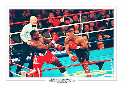 Mike Tyson Vs Frank Bruno Wbc Heavyweight Champion A4 Print Photo Boxing 16.3.96