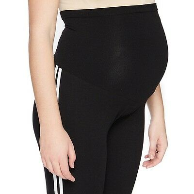 Motherhood Maternity Secret Fit Belly Striped Active Leggings - Small (NWT)