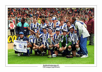Sheffield Wednesday 1991 League Cup Trophy A4 Print Photo Sheff Wed