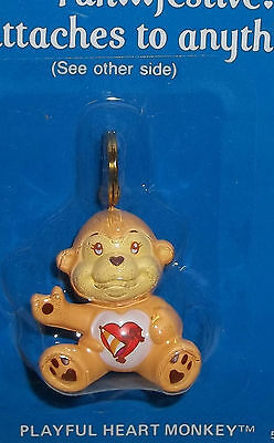 Vintage Care Bear Attachable Playful Heart Monkey MINT on Card 1985