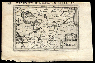 1616  Petrus Bertius Map of The Media Region of Northern Ireland and Ulster