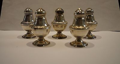 "NSCo Newburyport Sterling Silver 2 1/4"" Salt & Pepper Shakers  - Set of 5"