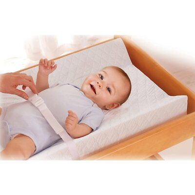 Contoured Changing Pad Durable Safe Baby Infant Diaper Change Station White  NEW
