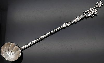 Unusual Vintage Italian Firenze Tasting / Toddy Ladle - Silver Plated