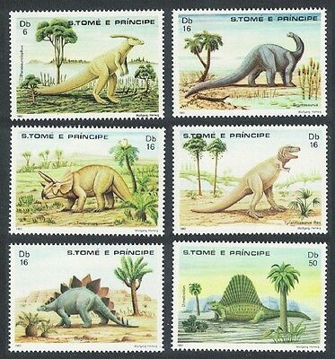 Sao Tome Dinosaurs and Prehistoric Animals SC#664-69