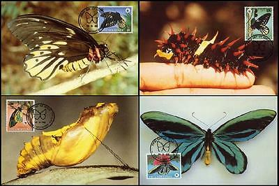 Papua NG WWF Queen Alexandra's Birdwing Butterfly 4 official Maxicards