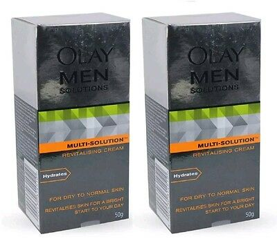 2 X OLAY MEN Multi Solutions Revitalizing Cream for dry to normal skin 50g