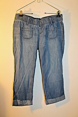 5fa09d0791d9 OLD NAVY MATERNITY Chambray Cropped Pants Size 2 -  10.39