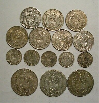 Collection Lot Panama Silver Coins**1947 - 1967**15 Coins*Take a Look