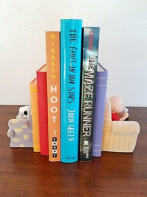 Hallmark *Peanuts Gallery* Snoopy Woodstock Charlie Brown Bookends 'By the Book'