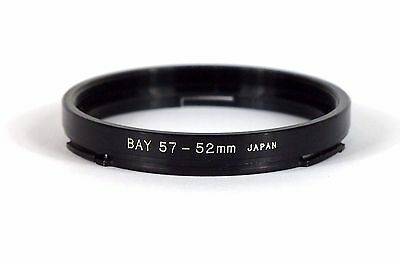 Generic Bay 57-52 Step Down Adapter Ring. Japan. Excellent.