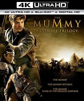 The Mummy Ultimate Trilogy [New 4K UHD Blu-ray] With Blu-Ray, 4K Mastering, Bo