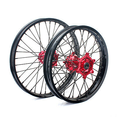 "21"" & 19"" Complete Wheel Set Rims Hub Spokes Honda CRF250R CRF450R 2014-2016"